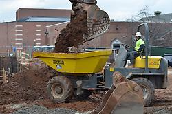 Operating Wacker Neuson loader in earthmoving operations. Central Connecticut State University. New Academic / Office Building.  Project No: BI-RC-324. Architect: Burt Hill Kosar Rittelmann Associates. Contractor: Gilbane Building Company, Glastonbury, CT.