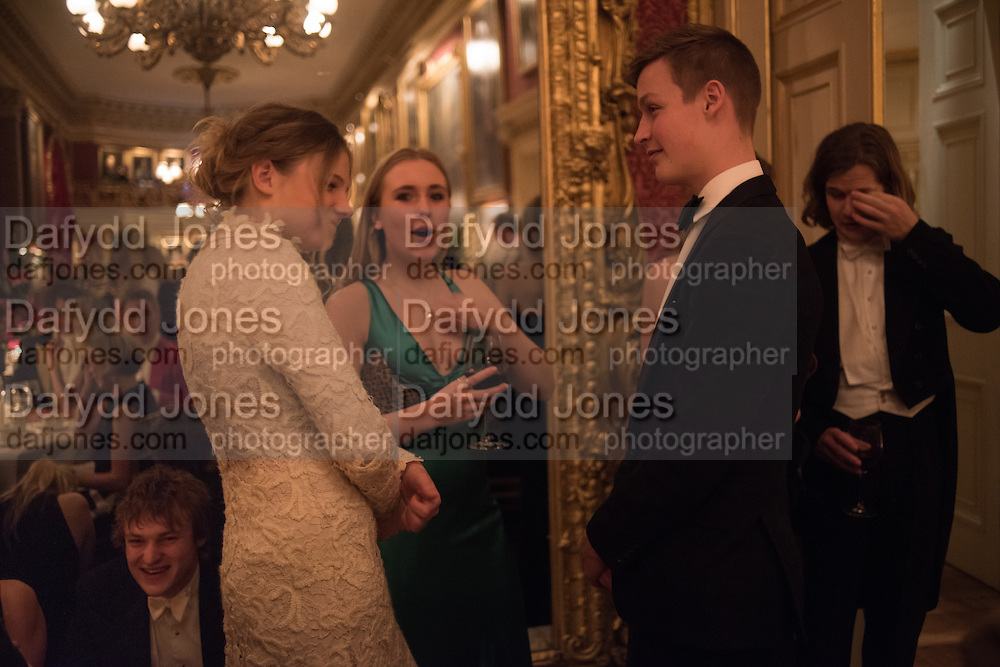 THEODORA HARMSWORTH; GEORGIE HUNT, Charlton Hunt Ball at Goodwood House.  6 February 2016