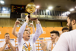 Gasper Okorn, head coach of KK Union Olimpija celebrates after wining during basketball match between KK Union Olimpija and KK Rogaska in 4th Final game of Liga Nova KBM za prvaka 2016/17, on May 24, 2017 in Hala Tivoli, Ljubljana, Slovenia. Photo by Vid Ponikvar / Sportida