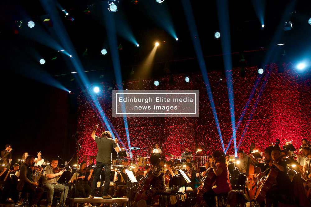 An epic reimagining of the visionary GRIT, the final album by pioneering Scottish piper, fiddler and studio mixer Martyn Bennett, bringing together an 80-piece orchestra, plus folk and jazz instrumentalists and singers, many deeply associated with Bennett himself.(c) Brian Anderson   Edinburgh Elite media