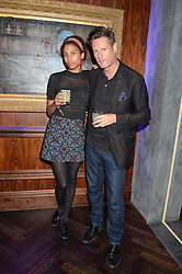PERCY PARKER and OPHELIA AASA at the launch of MNKY HSE Restaurant, 10 Dover Street, London on 19th October 2016.