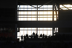 Cardiff City fans look on silhouetted  - Photo mandatory by-line: Dougie Allward/JMP - Mobile: 07966 386802 19/08/2014 - SPORT - FOOTBALL - Cardiff - Cardiff City Stadium - Cardiff City v Wigan Athletic - Sky Bet Championship