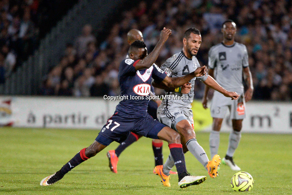 Andre BIYOGO POKO / Alaixys ROMAO - 12.04.2015 - Bordeaux / Marseille - 32eme journee de Ligue 1 <br />