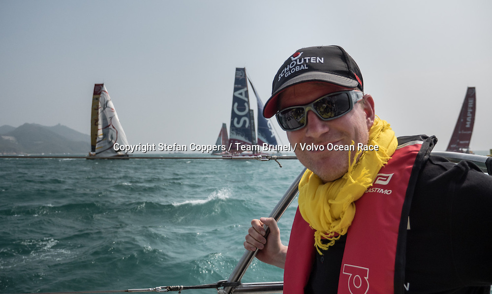 February, 2015. Leg 4 Start  to Auckland onboard Team Brunel. Day 01.