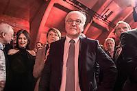 11 FEB 2017, BERLIN/GERMANY:<br /> Elke Buedenbender (L), Ehefrau von Steinmeier, Frank-Walter Steinmeier (R), SPD, Kandidat fuer das Amt des Bundespraesidenten, waehrend einem Empfang der SPD anl. der Bundesversammlung, Westhafen Event und Convention Center<br />  IMAGE: 20170211-03-039<br /> KEYWORDS: Elke B&uuml;denbender