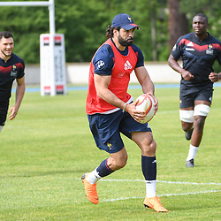 Yoann Huget of France during the French Rugby Training Session on May 9, 2018 in Marcoussis, France. (Photo by Anthony Dibon/Icon Sport)