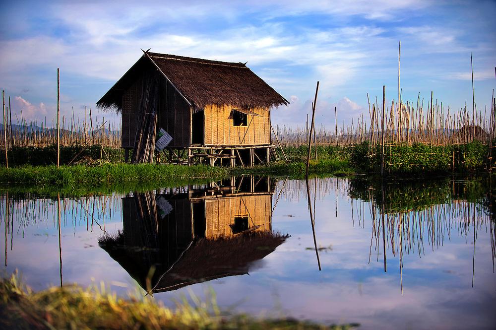 House on Inle lake, Myanmar.