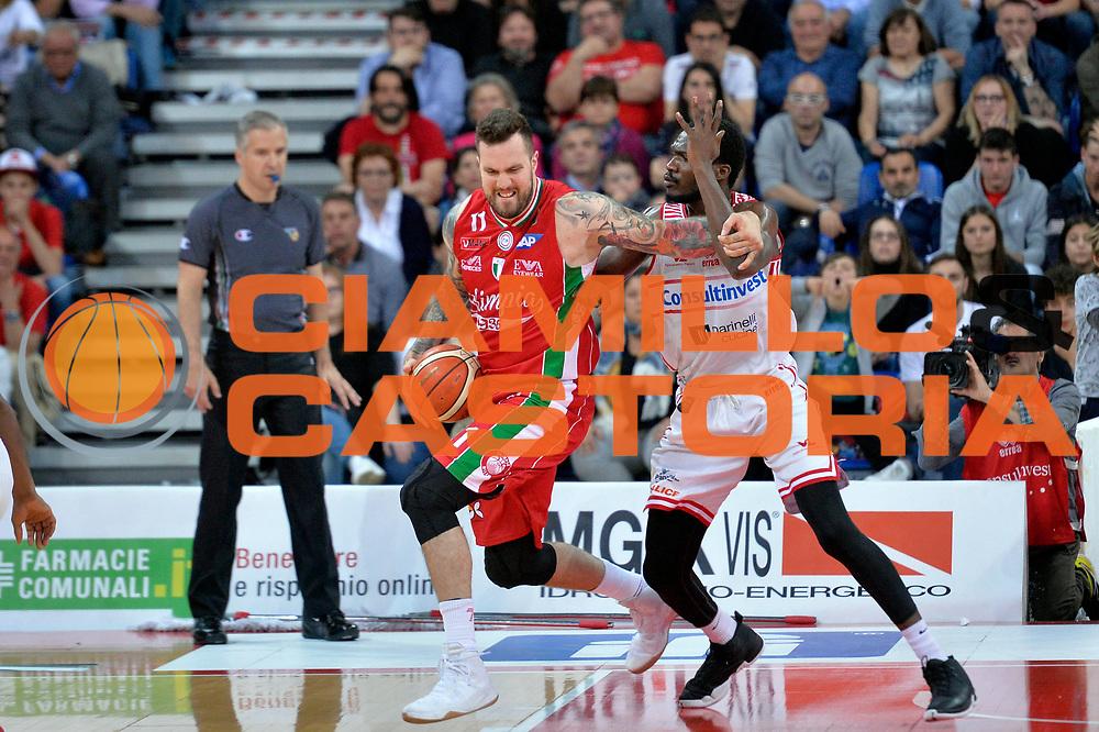 Miroslav Raduljica<br /> Consultinvest Victoria Libertas Pesaro - EA7 Emporio Armani Olimpia MIlano<br /> Lega Basket Serie A 2016/2017<br /> Pesaro, 30/04/2017<br /> Foto M.Ceretti / Ciamillo - Castoria
