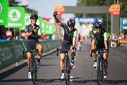 Giorgia Bronzini (ITA) of Cylance Pro Cycling celebrates winning Stage 2 of the Madrid Challenge - a 100.3 km road race, starting and finishing in Madrid on September 16, 2018, in Spain. (Photo by Balint Hamvas/Velofocus.com)