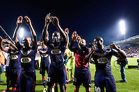 Joie Bordeaux - Cedric YAMBERE - 12.04.2015 - Bordeaux / Marseille - 32eme journee de Ligue 1 <br /> Photo : Caroline Blumberg / Icon Sport