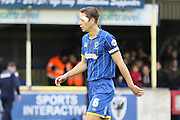 Paul Robinson of AFC Wimbledon takes over captaincy while Barry Fuller (Captain) of AFC Wimbledon is suspended during the Sky Bet League 2 match between AFC Wimbledon and Stevenage at the Cherry Red Records Stadium, Kingston, England on 12 December 2015. Photo by Stuart Butcher.