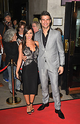 Janette Manrara (left) and Aljaz Skorjanec attend the opening night of Fire in the Ballroom by dance company Burn the Floor at The Peacock in London.