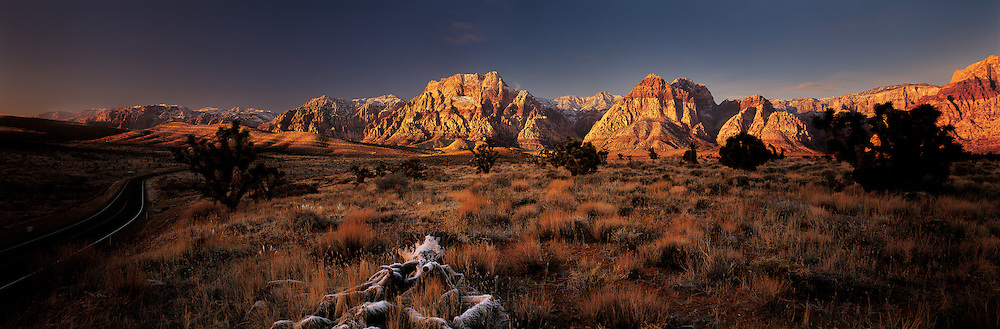 Richard Furhoff_999001_RedRockCanyon.tif  .Sunrise Over Red Rock Canyon, Nevada, USA. .