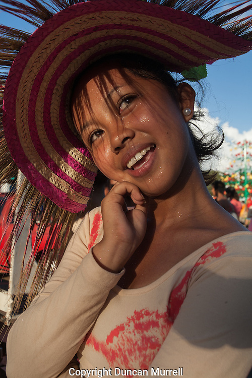 One of the participants of the Balayong Festival street dancing competition posing after the competition.