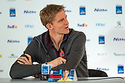 Kevin Anderson of South Africa during the press conference at the Nitto ATP World Tour Finals Media Day at the O2 Arena, London, United Kingdom on 9 November 2018. Photo by Martin Cole