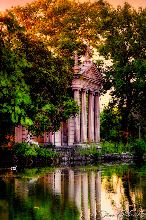 """The evening reflections at Villa Borghese – Rome""…<br />