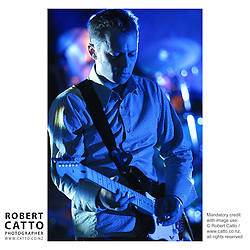 Dan Lambert from Verona performs in Civic Square, Wellington New Zealand.
