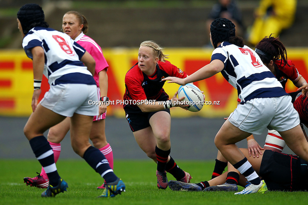 Canterbury's Kendra Cocksedge in action. 2013 Women's Provincial Championship, Auckland Storm v Canterbury at Western Springs,  Auckland, New Zealand. Saturday 7th September 2013. Photo: Anthony Au-Yeung / photosport.co.nz