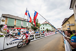 Gasper Katrasnik of Adria Mobil Cycling Team during 5th Time Trial Stage of 25th Tour de Slovenie 2018 cycling race between Trebnje and Novo mesto (25,5 km), on June 17, 2018 in  Slovenia. Photo by Vid Ponikvar / Sportida