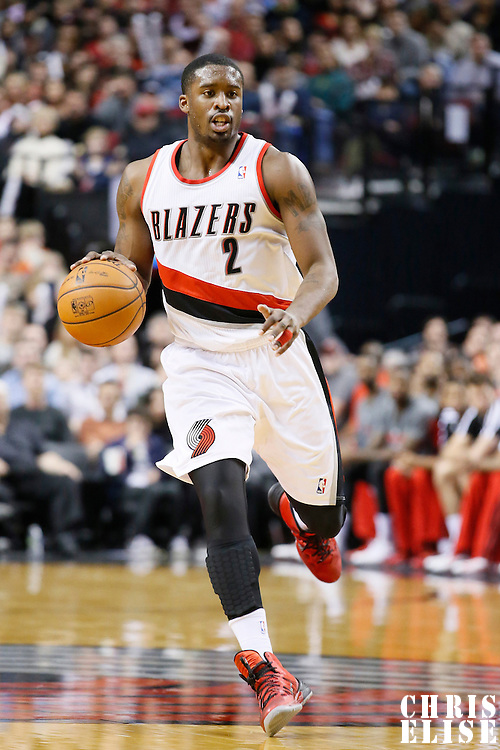 07 December 2013: Portland Trail Blazers shooting guard Wesley Matthews (2) brings the ball upcourt during the Dallas Mavericks 108-106 victory over the Portland Trail Blazers at the Moda Center, Portland, Oregon, USA.