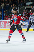 KELOWNA, CANADA - NOVEMBER 28:  Tyrell Goulbourne #12 of the Kelowna Rockets skates on the ice against the Tri City Americans at the Kelowna Rockets on November 28, 2012 at Prospera Place in Kelowna, British Columbia, Canada (Photo by Marissa Baecker/Shoot the Breeze) *** Local Caption ***