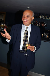 Heart surgeon PROF.SIR MAGDI YACOUB  at a party to celebrate the UK launch of Diana:The Portrait, the authorised book about the late Princess Of Wales's life and work, held at the National Portrait Gallery, London on 1st September 2004.  The book was commissioned by The Diana, Princess of Wales Memorial Fund and writen by Ros Coward.