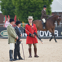 WINDSOR, ENGLAND - MAY 14: HRH A Stewart Arena  and Judges  at Windsor Horse Show 2009 at Windsor Castle on the second day of the Windosr Horse Show  on May 14, 2009 in Windsor, England.