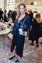 Laura Pradelska at a party to celebrate the launch of the new Furla Flagship store, 71 Brompton Road, London England. 2 February 2017.