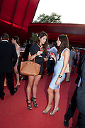 RACHEL THOMAS; CAMILLA THOMAS;  The Summer Party. Serpentine Gallery. 8 July 2010. -DO NOT ARCHIVE-© Copyright Photograph by Dafydd Jones. 248 Clapham Rd. London SW9 0PZ. Tel 0207 820 0771. www.dafjones.com.