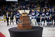 KELOWNA, CANADA - APRIL 30: Western Conference Cup at the Kelowna Rockets game on April 30, 2017 at Prospera Place in Kelowna, British Columbia, Canada.  (Photo By Cindy Rogers/Nyasa Photography,  *** Local Caption ***