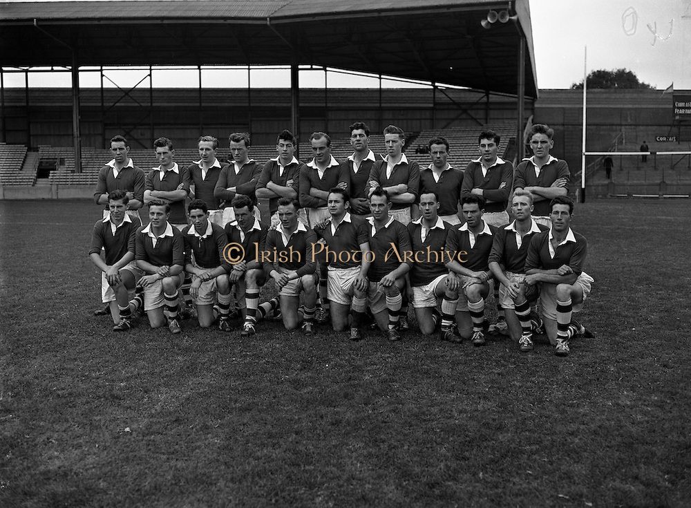 "Victorious Fermanagh Team Junior Home Final - Fermanagh vs. Kerry<br /> 20/09/1959<br /> <br /> Fermanagh played and defeated Kerry in the home final on 20 September 1959 in Croke Park. Things were close initially and Kerry made a strong comeback in the second half but the Fermanagh team dug in and won on a score line of 1-13 to 2-3. As a result of winning this home final, Fermanagh then progressed onto what was then known as the ""The Final"". ""The 'Final"" was played in New Etham Stadium in London on Sunday 11 October 1959 and the opposition was the British Senior Champions London. The opening half was very close with the teams level at half time and although London scored a late goal Fermanagh were not to be denied their moment of history, Fermanagh 1-11, London 2-4. <br />