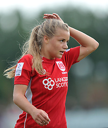 Goal scorer Olivia Fergusson of Bristol City Women - Mandatory by-line: Paul Knight/JMP - 24/09/2016 - FOOTBALL - Stoke Gifford Stadium - Bristol, England - Bristol City Women v Durham Ladies - FA Women's Super League 2