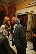 Jade Jagger and Philip Green, launch of The Bar at the Dorchester. Park Lane. London. 27 June 2006. ONE TIME USE ONLY - DO NOT ARCHIVE  © Copyright Photograph by Dafydd Jones 66 Stockwell Park Rd. London SW9 0DA Tel 020 7733 0108 www.dafjones.com