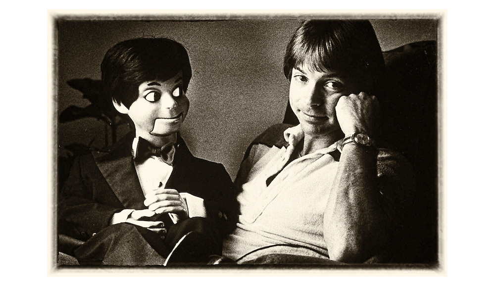 Ventriloquist Jay Johnson and his dummy Bob. Photo by Ed Hille