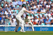 David Warner of Australia plays and misses during the 5th International Test Match 2019 match between England and Australia at the Oval, London, United Kingdom on 13 September 2019.