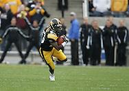 17 NOVEMBER 2007: Iowa wide receiver Paul Chaney (26) runs down field in Western Michigan's 28-19 win over Iowa at Kinnick Stadium in Iowa City, Iowa on November 17, 2007.