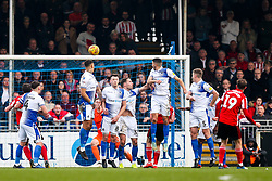 Aidan McGeady of Sunderland beats the Bristol Rovers wall to score from a freekick and make it 0-2 - Rogan/JMP - 23/02/2019 - FOOTBALL - Memorial Stadium - Bristol, England - Bristol Rovers v Sunderland - EFL Sky Bet League One.