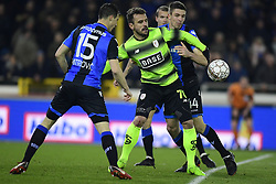 February 8, 2018 - Bruges, Belgique - BRUGGE, BELGIUM - FEBRUARY 8 : Orlando Sa forward of Standard Liege is challenged by Matej Mitrovic defender of Club Brugge during the Croky Cup 1/2 final match between Club Brugge and Standard de Liege in the Jan Breydel stadium on February 08, 2018 in Brugge, Belgium, 8/02/2018 (Credit Image: © Panoramic via ZUMA Press)