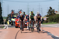 The break's lead is shortening - Flèche Wallonne Femmes - a 137km road race from starting and finishing in Huy on April 20, 2016 in Liege, Belgium.