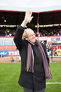 Ian Ure, who won the Scottish League with Dundee in 1961-62 waves to the crowd at half-time of Dundee v Partick Thistle - IRN BRU Scottish Football League First Division at Dens Park.. - © David Young -.5 Foundry Place - .Monifieth - .Angus - .DD5 4BB - .Tel: 07765 252616 - .email: davidyoungphoto@gmail.com - .http://www.davidyoungphoto.co.uk