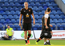 Michael Dawson of Hull City looks dejected as he leaves the field with an injury - Mandatory by-line: Matt McNulty/JMP - 19/07/2016 - FOOTBALL - One Call Stadium - Mansfield, England - Mansfield Town v Hull City - Pre-season friendly