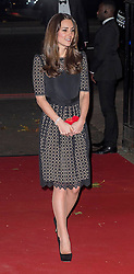 The Duchess of Cambridge arrives, as she attends the Sports Aid Ball. London, United Kingdom. Thursday, 28th November 2013. Picture by i-Images