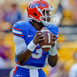 Oct 12, 2013; Baton Rouge, LA, USA; Florida Gators quarterback Tyler Murphy (3) prior to a game against the LSU Tigers at Tiger Stadium. Mandatory Credit: Derick E. Hingle-USA TODAY Sports