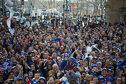 Tue Feb 07, 2012: New York City Parade for Super Bowl champion NY Giants. Images of those that gathered along the parade route..Credit: Rob Bennett for The Wall Street Journal  Slug: PARADE