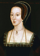 Anne Boleyn (c1504-1536) second wife of Henry VIII of England, mother of Elizabeth I. Beheaded 19 May 1536. Anonymous 16th century portrait.