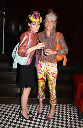 Left to right, STEPHANIE LUNDELL and COZMO JENKS at a party to celebrate the launch of Ladies' Day at The Vodafone Derby Festival held at Frankie's Bar & Grill, 3 Yeomans Row, London SW7 on 19th April 2005.<br /><br />NON EXCLUSIVE - WORLD RIGHTS