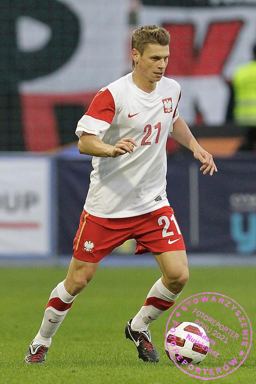 LODZ 04/09/2010.FOOTBALL INTERNATIONAL FRIENDLY.POLAND v UKRAINE.Lukasz Piszczek of Poland ..Fot: Piotr Hawalej / WROFOTO
