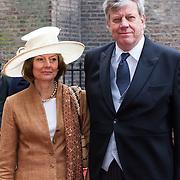 NLD/Den Haag/20130917 -  Prinsjesdag 2013, Minister van Veiligheid en Justitie Ivo Opstelten en partner …..