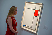 Sotheby's £250m Impressionist & Modern Art and Contemporary Art Summer Sales.  Highlights include: Monet's Water Lilies est £20-30m; Composition in Blue, Red and Grey by Piet Mondrian, est £13-18m (pictured); a Peter Doig, est £9m; a Frances Bacon triptych of his lover George Dyer, est £15-20m; and works by Matisse, Picasso, Basquiat, Warhol and Richter. Sotheby's, New Bond Street, London.