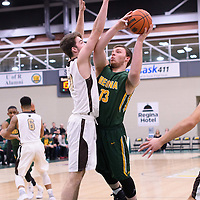 1st year forward Carter Millar (13) of the Regina Cougars in action during the home game on January  14 at Centre for Kinesiology, Health and Sport. Credit: /Arthur Images